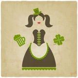 Muchacha de día del St Patricks Foto de archivo libre de regalías