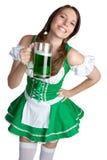 Muchacha de día del St Patricks Fotografía de archivo