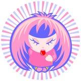 Muchacha de Emo con el caramelo Foto de archivo libre de regalías