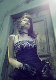 Muchacha de Emo con el pelo hermoso Imagenes de archivo