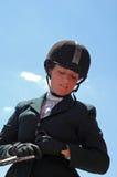 Muchacha de Equestrain fotografía de archivo