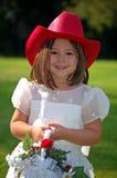 Muchacha de flor del país Imagen de archivo libre de regalías