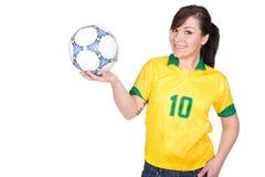 Muchacha de Footbal Fotos de archivo libres de regalías