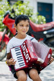 Muchacha de Gipsy del músico imagen de archivo libre de regalías