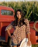 Muchacha de granja fotos de archivo