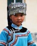 Muchacha de Hani, China Fotos de archivo