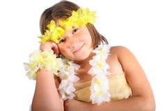 Muchacha de Hawaii Fotos de archivo libres de regalías