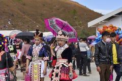 Muchacha de Hmong con Año Nuevo Imagen de archivo