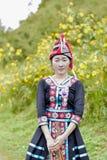 Muchacha de Hmong con el vestido del calture Fotografía de archivo