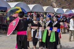 Muchacha de Hmong con la tradición que se viste en Año Nuevo Foto de archivo libre de regalías