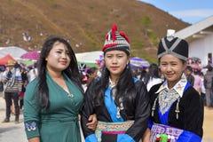 Muchacha de Hmong con la tradición que se viste en Año Nuevo Fotografía de archivo libre de regalías