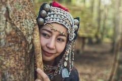 Muchacha de Hmong de los profesores fotos de archivo