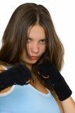 Muchacha de Kickbox Foto de archivo libre de regalías