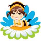 Muchacha de la abeja del bebé Imagenes de archivo