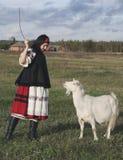 Muchacha de la aldea Imagen de archivo libre de regalías
