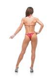 Muchacha de la aptitud del bikini en traje de baño rojo Imágenes de archivo libres de regalías