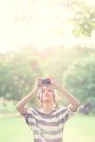 Muchacha de la belleza al aire libre Fotografía de archivo