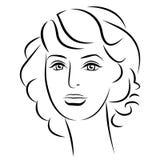 Muchacha de la belleza Cara hermosa de la mujer de la moda tinta Imagen de archivo libre de regalías