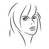Muchacha de la belleza Cara hermosa de la mujer de la moda tinta Fotografía de archivo