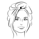 Muchacha de la belleza Cara hermosa de la mujer de la moda tinta Fotos de archivo