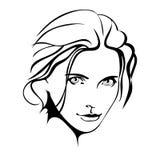 Muchacha de la belleza Cara hermosa de la mujer de la moda tinta Foto de archivo