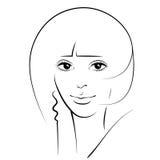 Muchacha de la belleza Cara hermosa de la mujer de la moda tinta Imágenes de archivo libres de regalías