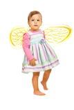 Muchacha de la belleza con las alas de la abeja Fotos de archivo libres de regalías