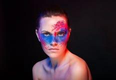 Maquillaje brillante. retrato de la mujer del arte de la moda Imagen de archivo libre de regalías
