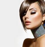 Muchacha de la belleza de la moda Imagen de archivo