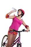 Muchacha de la bicicleta Foto de archivo
