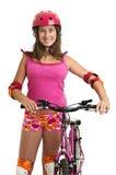 Muchacha de la bicicleta Fotografía de archivo libre de regalías