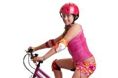 Muchacha de la bicicleta Fotos de archivo libres de regalías
