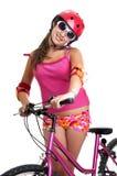 Muchacha de la bicicleta Fotos de archivo