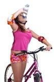 Muchacha de la bicicleta Imagenes de archivo