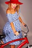 Muchacha de la bicicleta Imagen de archivo libre de regalías