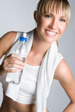 Muchacha de la botella de agua Foto de archivo