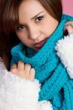 Muchacha de la bufanda del invierno Imágenes de archivo libres de regalías