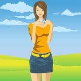 Muchacha de la cámara libre illustration