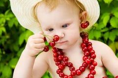 Muchacha de la cereza Fotografía de archivo libre de regalías