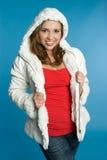Muchacha de la chaqueta del invierno Foto de archivo