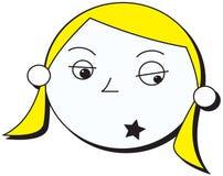 Muchacha de la estrella del rock Foto de archivo libre de regalías