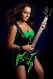 Muchacha de la estrella del rock imagenes de archivo