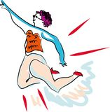 Muchacha de la explosión de la danza libre illustration