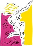 Muchacha de la explosión de la danza ilustración del vector