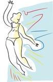 Muchacha de la explosión de la danza stock de ilustración