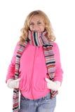 Muchacha de la felicidad en la ropa caliente 3 Foto de archivo libre de regalías