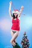 Muchacha de la feliz Navidad Imagenes de archivo