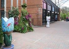 Muchacha de la Festival-Flor del tulipán de Ottawa Imagen de archivo