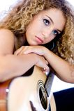 Muchacha de la guitarra Imagen de archivo