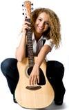 Muchacha de la guitarra Foto de archivo libre de regalías